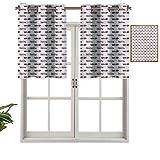 Hiiiman Cortinas opacas con ojales, cortinas cortas, ambulancias de emergencia, juego de 1, 132 x 45 cm, cortinas de cocina para sala de estar