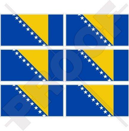 Bosnien & Herzegowina Flagge 40mm (40,6cm) Mobile, Handy Vinyl Mini Sticker, Aufkleber X6