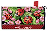 Ladybugs on Leaves Spring Magnetic Mailbox Cover Welcome Briarwood Lane