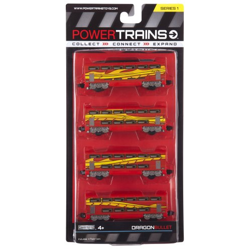 Power City Trains Bullet Dragon 4 pack