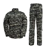 Minghe Men's Combat Uniform Military Tactical Shirt and Pants Set Cp Camo Long Sleeve Army Suit for Hunting Airsoft Paintball