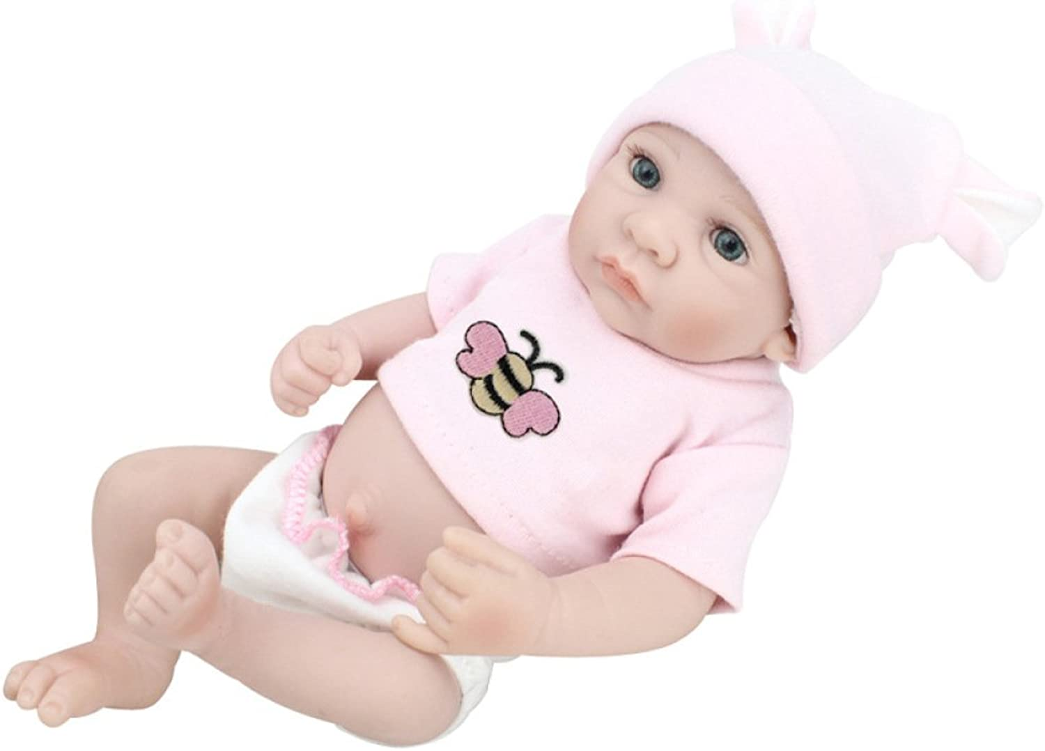 Silicone Vinyl Reborn Baby Dolls Handmade Lifelike Realistic Baby Doll Soft Simulation 11 inch 28 cm Eyes Open Girl Favorite Gift Can Be Washed