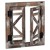 J JACKCUBE DEISGN Rustic Wood Window Frame with Opening-doors, Wall Art Decor Hanging Window Panes, Farmhouse Wall Décor for Living Room, Bathroom, Kitchen and More -MK587A