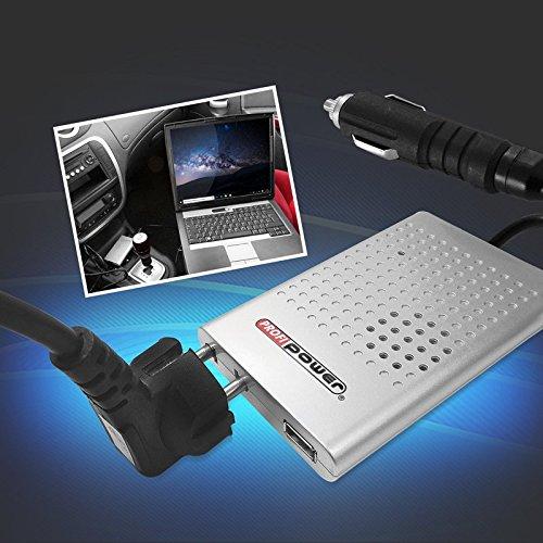 Marionola 12 V/230 V Convertisseur de Tension 80–100 W, USB 2.0, Peu encombrant Profi Power EIE : 39,95