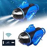 Rubyu Mini submarino teledirigido juguete eléctrico multifuncional duradero modelo submarino para tanques de peces bañeras