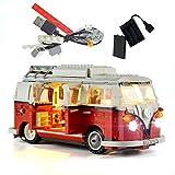 GEAMENT LED Lighting Kit for Creator Expert Volkswagen T1 Camper Van - Compatible with VW Bus 10220 Lego Model (Lego Set Not Included)