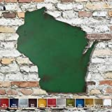 Wisconsin metal wall art - Choose 10', 16' or 23' tall - Handmade - Choose your patina color and Any USA State