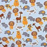 SCHÖNER LEBEN. Sweatstoff dünn Tiere Elefant Bär Löwe