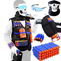 This Tactical Vest Kit fit for Toy Guns, lets you carry along lots of extra ammo, maximize your firepower. Quick Reload Clips work with all N-Elite blasters and most original blasters. Comfortable and Personalized Tactical Vest Kit This Tactical Vest...