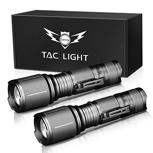 Puaida LED Taschenlampe, 1600 Lumen Extrem Hell Tragbare Taschenlampe, 5 Modi Zoombare Handlampe Wasserdicht für Outdoor Camping Wandern