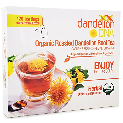 Organic Roasted Dandelion Root Tea (120 bags)