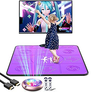 BLAVOR Dance Mat TV Somatosensory Game Electronic Revolution Playmat Portable Musical Blanket Pad Baby Touch Safety Early Education Toy 100+ Family Games for Adult Kid Boy Girl English MTV&Cartoon