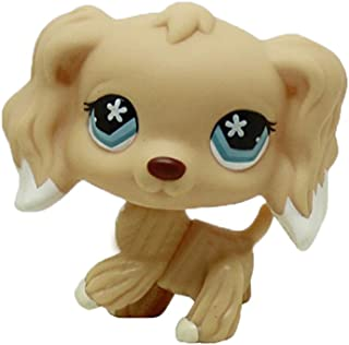 Meidexian888 Figure Toy Dog, Rainbow Eyes Dog LPS Pet Shop Cream Toy Party Decorations Brown