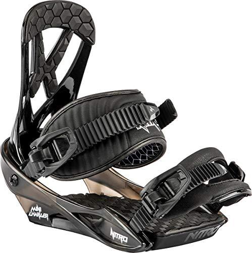 Nitro Charger Mini Fixations de Snowboard, Jeunesse Unisexe, Noir, S
