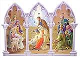 Calendario de Adviento para Belén de pie con lengüetas, cuenta atrás religiosa para Navidad, paquete de 12