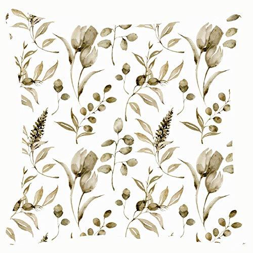 Acuarela monocromo tulipán grande sin costuras patrón naturaleza artística vintage vintage fundas de almohada fundas de almohada para el hogar sofá sofás almohadas almohadas 45,7 x 45,7 cm