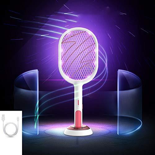 tapette anti moustique electrique tapette à moustiques électrique bi-mode rechargeable ménage double usage deux-en-une tapette à mouche puissante pour attirer la lampe à moustique tapette à moustique