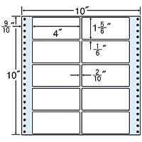 東洋印刷 タックフォームラベル 10インチ ×10インチ 10面付(1ケース500折) MT10Q