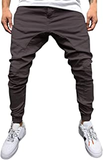 Mmnote Men's Tooling Jeans Pure Colored Loose Multi-Pocket Workwear Pants Tether Trousers Pocket Jeans