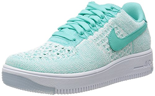 Nike W AF1 Flyknit Low, Zapatillas de Deporte para Mujer, Turquesa (Hyper...