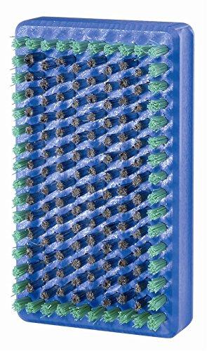 Holmenkol Unisex– Erwachsene BaseBrushSteelMicroFinish Bürste, blau, Einheitsgröße