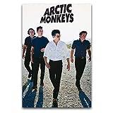 WPQL Poster mit Arktis-Affen-Motiv, gedruckt auf Leinwand,