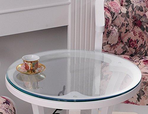 Nappes Ronde en Verre Souple PVC Imperméable À l'eau Mat Table en Plastique (Couleur : Thickness -1.5mm, Taille : Diameter 140 cm)