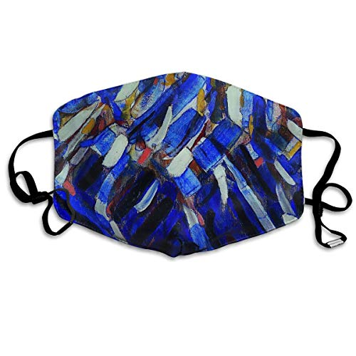 Windproof Mouth Cover,Warm Quick Dry Balaclava with Adjustable Elastic Band,Christian Rohlfs Abstraction Blue Mountain,Cover Protection for Cycling Runners Female