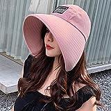 Marlon Nancy New Fisherman's Hat Mujer Wide Eaves protección solar y protección UV tendencia de la serie japonesa Rosa Paquete Taille unique