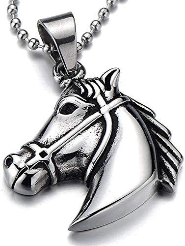 YOUZYHG co.,ltd Collar de Remolque de Caballo de Troya para Hombre con 23 Collar de 4 Perlas