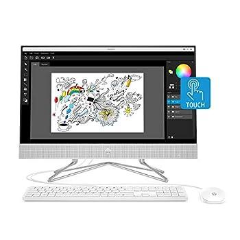 HP 24-inch All-in-One Touchscreen Desktop Computer AMD Ryzen 5 4500U Processor 12 GB RAM 512 GB SSD Windows 10 Home  24-dp0160 Silver