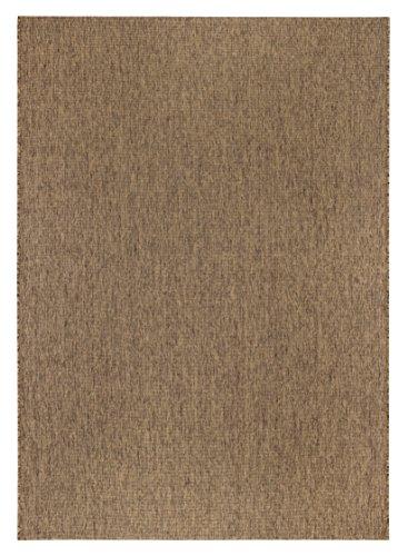 Geweven vloerkleed, laagpolig tapijt, modern, platgeweven, woonkamertapijt, slaapkamer, effen gefestonneerd, meer groen verkrijgbaar. Middenklasse-cavallano 160cmx240cm bruin