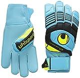 uhlsport Eliminator Soft - Guantes de Portero para fútbol, Color Azul, Talla 9