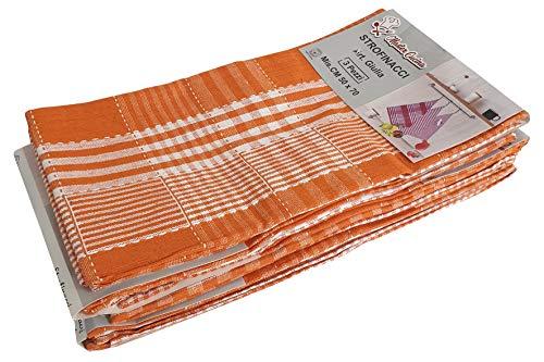 mediatex srl Juego de 12 paños de Cocina de 6 Colores, paños de Limpieza Multiusos al por Mayor de algodón, 50x70 cm (Naranja)