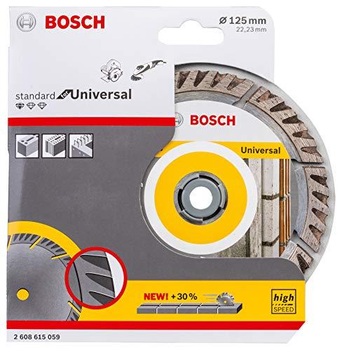 Bosch Professional Diamanttrennscheibe Standard für Universal (Beton und Mauerwerk, 125 x 22,23 mm, Zubehör Winkelschleifer)