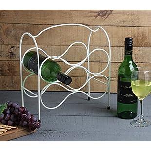 Store Indya, Store Indya, Handmade Wrought Iron Wine Rack Bottle Holder 6-Bottle Countertop Wine Holder Stand White:Animalnews