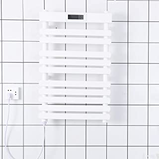 Radiador de riel de toalla con calefacción, calentador de toallas eléctrico con modos de temporizador LCD Apagado automático inteligente Pantalla de montaje en pantalla táctil montada en la pared