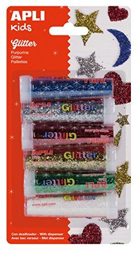 APLI Kids - Pack purpurina en polvo, 6 uds