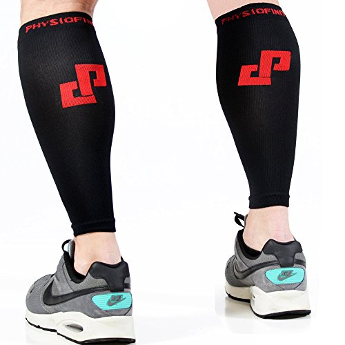 """Physiofinity Calf Compression Sleeves, 10"""" - 14"""" (S/M)"""