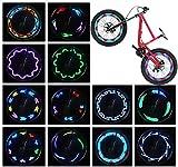 LED Bike Wheel Lights - Waterproof Bicycle Wheel Lights, Ultra Bright Bike Spoke Lights Bike Tire Lights, Safety Adult and Kids Bike Accessories, Cool 14 LED 30 Patterns Bike Lights for Wheels(1 Pack)