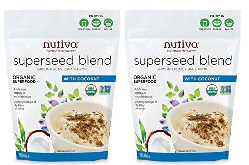 Nutiva Organic Superseed Blend with Coconut, (Pack of 2), 10 Ounce
