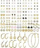 CASSIECA 84 Pares Pack Pendientes Mujer Pendientes Aros Pendientes Cartilago Oreja Pendientes...