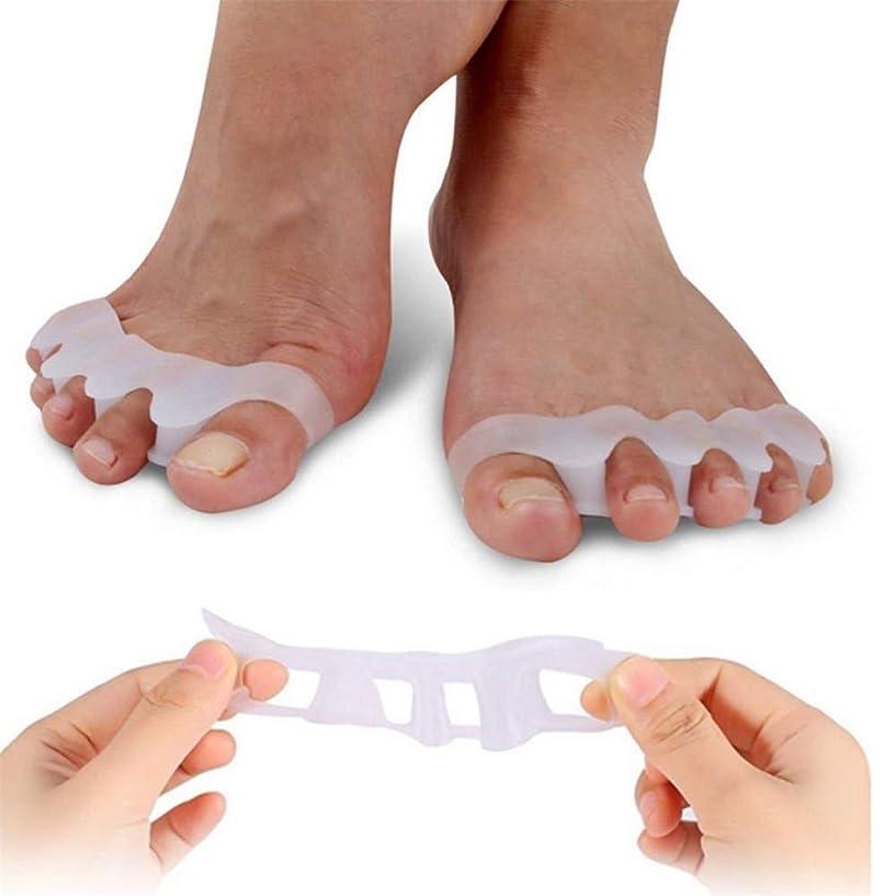 ライトニング夕暮れ良い男性と女性のためのジェル足セパレータ足スペーサの足ストレッチャーの2ペア、外反母趾救済簡単に仕事で長い一日を過ごした後、靴に着用足外反母趾救済足ストレイテナー、緩和する痛み