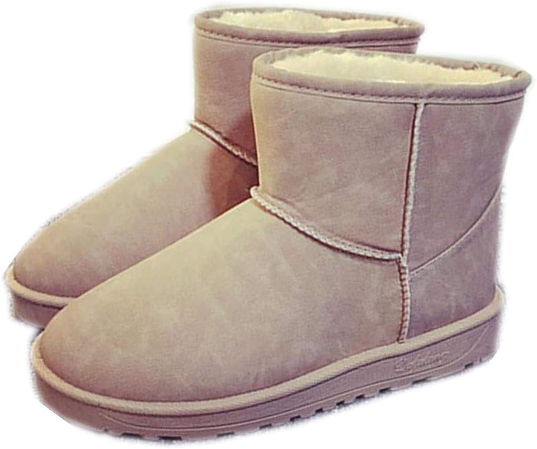 Quality.A Women's Plus Velvet Booties Warm Snow Boots
