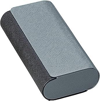Double Glasses Case Aluminum Hard Shell Black for Men Women | for Reading Glasses and Sunglasses etc.