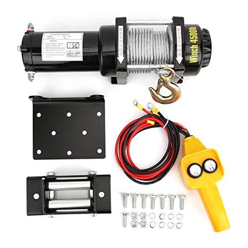 Kit de cabrestante de cuerda sintética de doble uso 12V 4500lb, piezas mecánicas, cabrestante eléctrico para SUV para coche