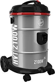 Hoover 2100W Powerforce Tank Vacuum Cleaner With Blower Function and Anti-Bacterial Filter, Made from Galvanised Steel, 20L Capacity for Home & Office, HT87-T2-ME Silver