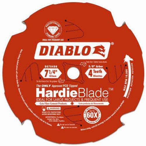 Diablo D0704DH 18 cm James Hardie Sägeblatt mit 4 Zähnen, polykristallines Diamant (PCD), multi, 7-1/4