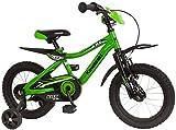 Kawasaki KBX - Bicicleta infantil (14', 35,6 cm), color verde y negro