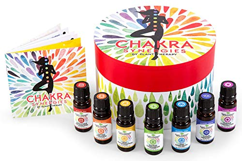Plant Therapy Chakra Synergy Blends Complete Undiluted Set 100% Pure, Undiluted, Therapeutic Grade